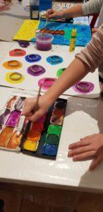 Malerei im Ferienprogramm