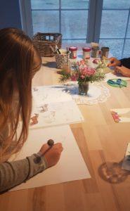 Zeichnen im Ferienprogramm